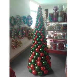 Indoor 180cm Large Artificial Christmas Ball Tree