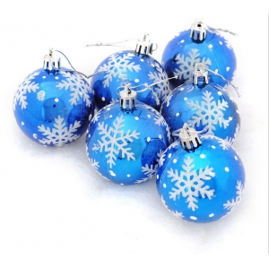 Inexpensive High Quality Christmas Plastic Bauble With Snowflake
