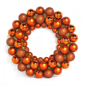 Inexpensive Hot Selling Plastic Christmas Ball Wreath