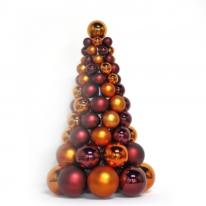 Inexpensive Hot Selling Plastic Xmas Ball Tree