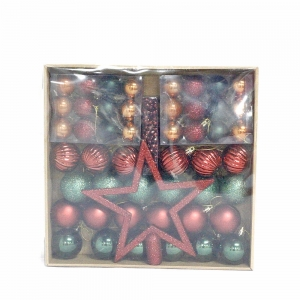Inexpensive salable Xmas decorative hanging ball set