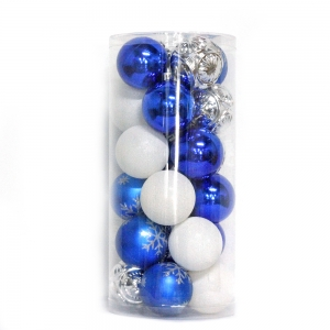 Multicolor Shatterproof Xmas Ball Set