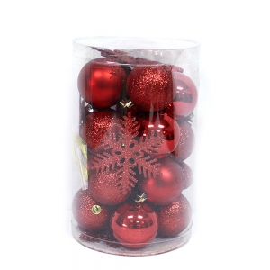 New Style Christmas Ball Plastic Decoration Tube