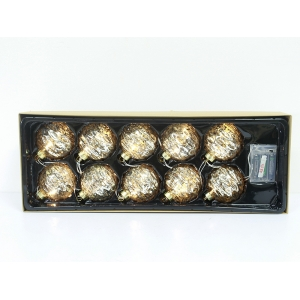 New Type Promotional Glass Lighted Ball Ornaments