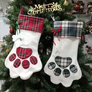 New arrivals candy gift bags dog christmas pet stockings for festival hanging tree decor