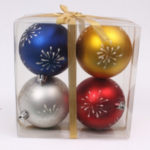 New design plastic decorative christmas ball