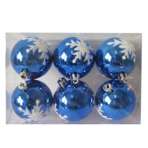 Painted Shatterproof Plastic Xmas Ball