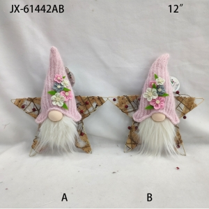 Pink Santa Xmas Tree Hanging Ornament Decoration Home Table Gift ornaments faceless doll