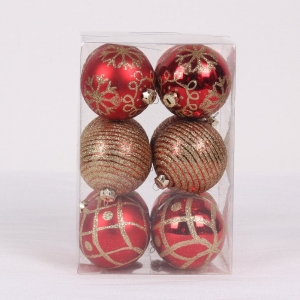Plastic Xmas Ball Haning Ornament
