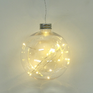 Popular Good Quality Lighted Xmas Glass Ball