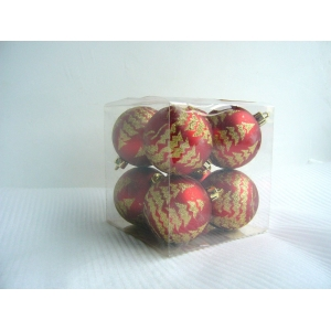 Popular Painted Christmas Tree Ball Set