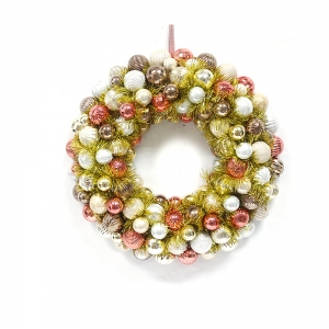 Popular Salable Plastic Xmas Ball wreath