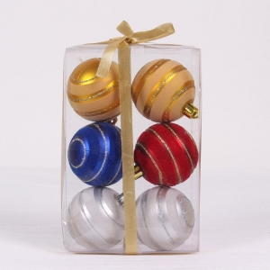 Popular durable plastic decorative christmas ball ornament