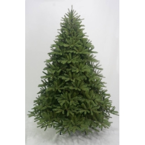 Pre decorated artificial flocked metal christmas tree