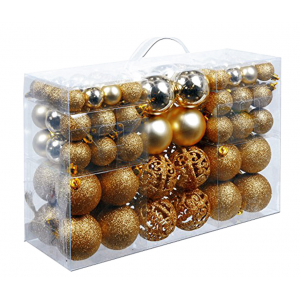Promitional Plastic Xmas Decorative Ball Set