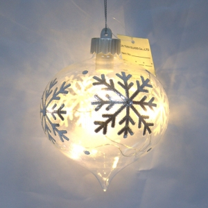 Promotional Lighted Christmas Hanging Ball Ornament
