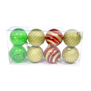 Promotional Mixed Type Plastic Christmas Ball Set