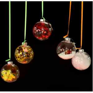 Promotional Plastic Christmas Clear  Ball