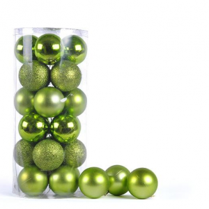 Promotional high quality christmas plastic ball decoration