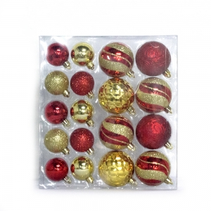 Promotional hot selling plastic Christmas ball decoration set