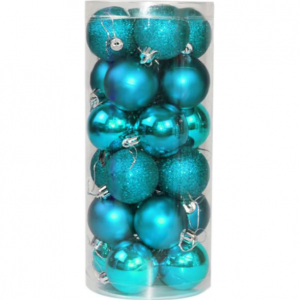 Promotional plastic Christmas decoration ball set
