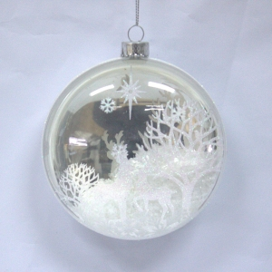 Salable High Quality Christmas Plastic Flat Ornament
