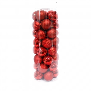 Shatterproof Hot Selling Plastic Xmas Ball Tube