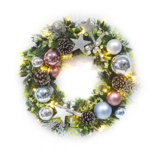 Superior Quality Christmas Wreath With Ornaments