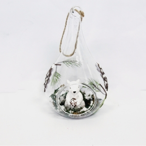 Top Quality Clear Ligthed Hanging Glass Ball  Decoration