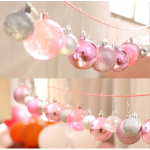 Top Quality Hanging Decorative Plastic Xmas Bauble