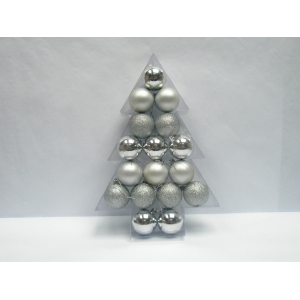 Tree Shape Mixed Finish Christmas Ball