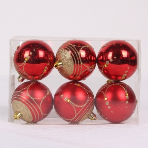 Wholesale Hanging Plastic Christmas Bauble