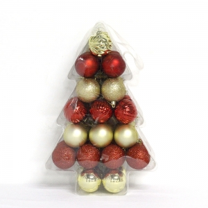 Wholesale hot selling plastic Xmas Ball ornament