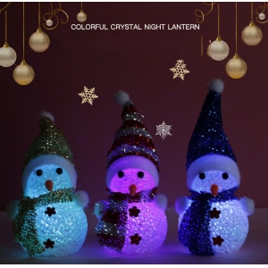 Xmas Ornaments Decoration Home Accessories Nightlight Christmas Tree led toys Decor Glowing Snowman