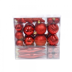 indoor Christmas tree ornament plastic Christmas ball set
