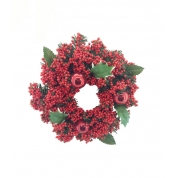 China 12 inch artificial red berry christmas wreath factory
