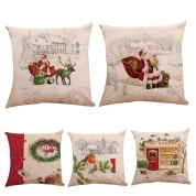 China 18*18 inch Throw Pillow Case Sofa Indoor xmas Home decoration Christmas Pillows Covers factory