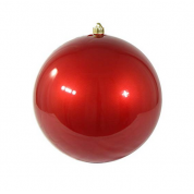 China 200mm pearl finish plastic shatterproof christmas hanging ball factory