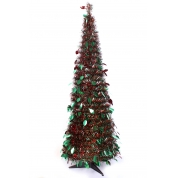 China 2016 new design flexible tinsel pop up christmas tree fabriek