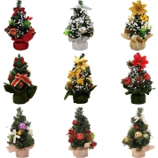 China 20cm Mini Christmas tree decoration table top small xmas ornament tree factory