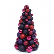 China 30cm Plum Color Christmas Bauble Tree factory