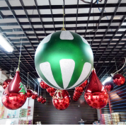 Chiny 400mm Shatterproof Printed Christmas Plastic Ball fabrycznie