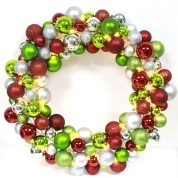 China 40cm Excellent Quality Christmas Ball Wreath fábrica