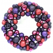 China 45cm Dia Shatterproof Plastic Christmas Ball Wreath factory
