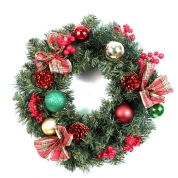 China 45cm Pine needle wreath for Christmas factory
