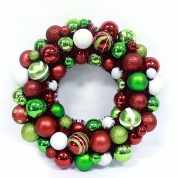 China 60cm Color Painted Christmas Ornament Wreath factory