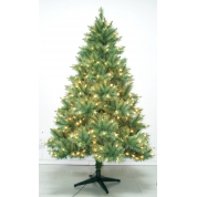 China 7' PE Artifical Outdoor Lighted Christmas Tree factory