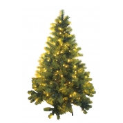 China 7.5-Ft Pre-lit Pvc Artificial Clear Lights Christmas Tree factory