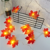 Chiny Autumn String Light festival DIY Halloween Decor 1.5m 2m 3m 4m 6m maple leaves led fairy lights for christmas fabrycznie