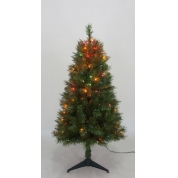 China Christmas ceramic tree PVC christmas tree outdoor colored light Christmas tree factory